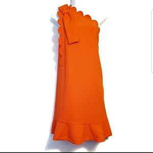 NWOT Victoria Beckham Orange Dress